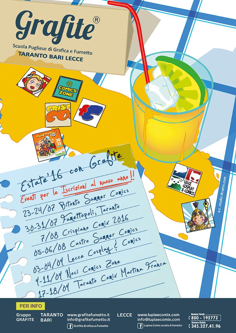Calendario Eventi Martina Franca.Lecce Grafite Fumetto La Scuola Pugliese Di Grafica E