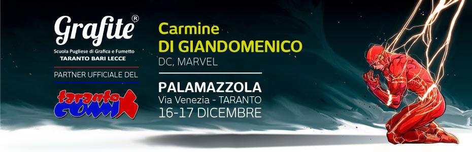 Carmine Di Giandomenico con Grafite al Taranto Comix 2017